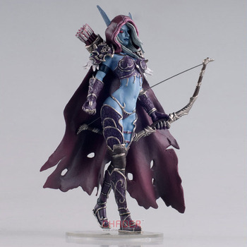 World of warcraft 7 inç Undead Kraliçe Hill Vanasse Windrunner Set Dekorasyon Modeli