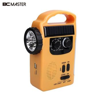 BCMaster AM/FM Radyo destek Güneş Powered Wind Up Acil LED